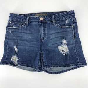 JOE'S JEANS distressed denim jean shorts Mid Rise